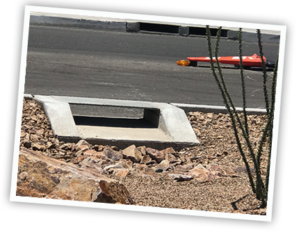 Water Harvesting Features on the Grant Road Improvement Project.
